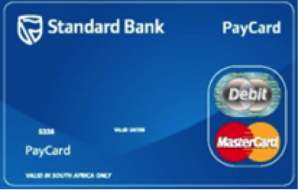 standard bank pay card