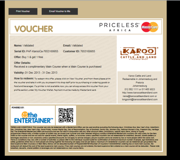 The Voucher itself