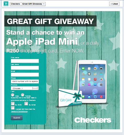 checkers gift card giveaway